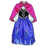 Vestido de princesa Live It Style IT, disfraz de reina del hielo, de fiesta, inspirado en Anna Elsa ANNA2 5-6 Años