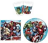 Marvel Avengers Party-Geschirr Set - Teller Becher Servietten (16 Personen)