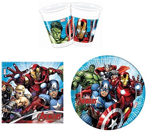 Procos Lot de 52 Assiettes Motif Avengers Marvel