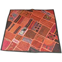 """Home Decor- Sari Pillow Covers Beaded Patchwork Embroidered Shabby Chic Cushion Cover 24"""""""