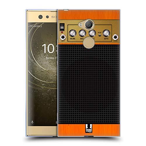 Head Case Designs Orange Chor Gitarrenverstärker Soft Gel Hülle für Sony Xperia XA2 Ultra