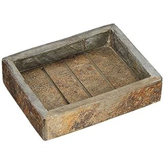 Andrea House BA64371 -Soap Dish - Rusty Slate - 18 x 12,2 x 5,4 cm.