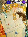 Poster 30 x 40 cm: Mutter mit Kind (Detail) von Gustav Klimt - Hochwertiger Kunstdruck, Kunstposter