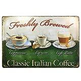 HUABEI Targhe vintage Wall placca Poster per Cafe Bar Pub birra Club parete Home Decor (caffè)