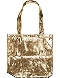 styleBREAKER borsa da shopping in stile metallico con chiusura a clip 6c8c00fe337