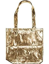 719a2f2876 styleBREAKER borsa da shopping in stile metallico con chiusura a clip, borsa  da trasporto, borsa da shopping,…