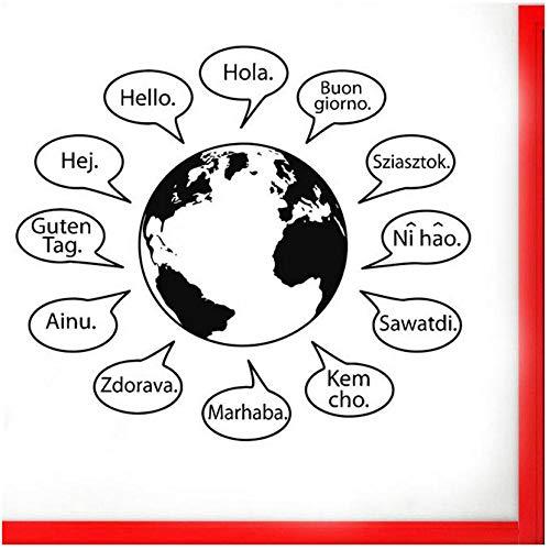 Wandaufkleber Hallo Text Wandaufkleber In Vielen Sprachen Weltkarte Wörter Wohnkultur Für Wohnzimmer Café Vinyl Logo Zeichen (Sprachen Weltkarte)