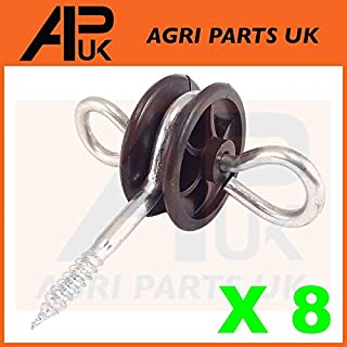 APUK 8 x Electric Fence Gate Handle Insulators Anchors Tape Screw Poly Rope Fencing
