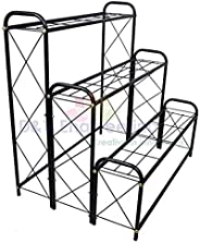 D&V ENGINEERING - Creative in innovation Metal 3 Tier 9 Planter Stand, Black, 82 cm, 1 P