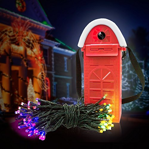 Led string luce powered by salt water, morpilot stringa fairy lights, 22m + 200led, 4lightning color (red, green, yellow, blue), waterproof decorative lights for christmas, gardens, homes, party