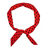 SoulCats 1 Haarband viele Styles!-Polkadots Rockabilly Schleife Punkte Streifen rot Weiss Marine pink, Modell:rot mit schwarzen Punkten