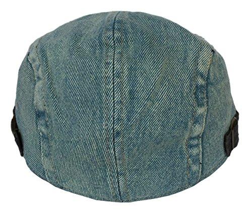 Smile YKK Homme Chapeau Uni Denim Béret Casquette de Plage de Soleil Outdoor Sport Bleu Unisexe Turquoise