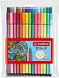 STABILO Pen 68 24+6 neon Etui - Premium-Filzstift