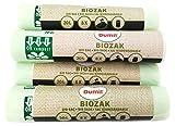48 pièces Bio sacs poubelle 20L 45x50 cm, EN 13432, 100% compostable et biodégradable, résistant à la déchirure et à l'humidité, sac organique 20L