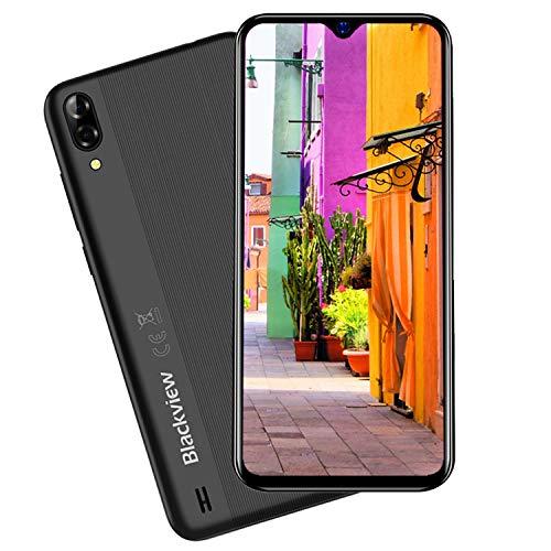 Blackview A60 Smartphone Ohne Vertrag Günstig Dual SIM Handy, 4080 mAh Akku, Android 8.1 Oreo, 16 GB ROM Erweiterbar Bis Zu 128 GB, 13MP Rückkamera, 5MP Frontkamera, 6,1 Zoll Bildschirm Schwarz