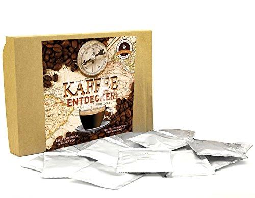 Geschenkset Länderpads 15 außergewöhnliche & leckere Kaffeepads + 1 Pad gratis