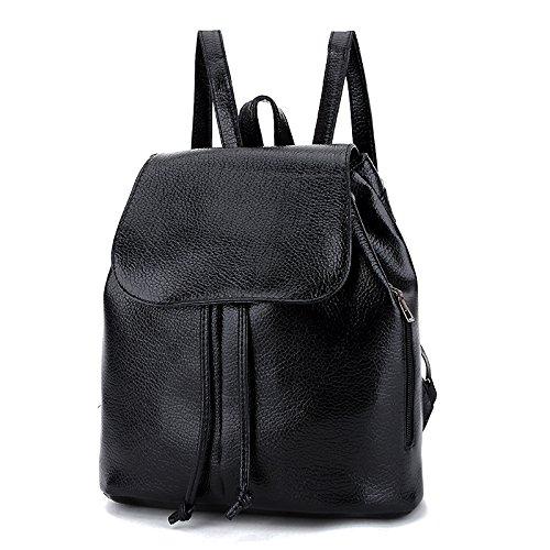 retro - umhängetasche mit einer neuen tasche von frauen ist casual rucksack rucksack druck Schwarz