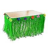 Pannello Esterno Della Tavola Hawaiana MINPE 9ft Luau Artificial Grass Tiki tavolo da tavola Decorazione per la decorazione del partito, eventi, riunioni, compleanni, matrimoni, doccia del bambino e decorazione domestica (1 pacchetto)