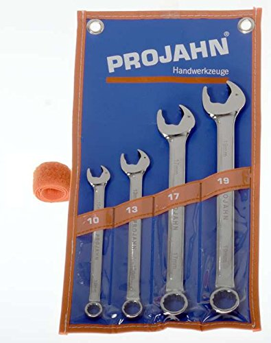 Projahn 4462 813 Clé à fourche de jeu de diamètre 10–19 mm, 4 Pièces