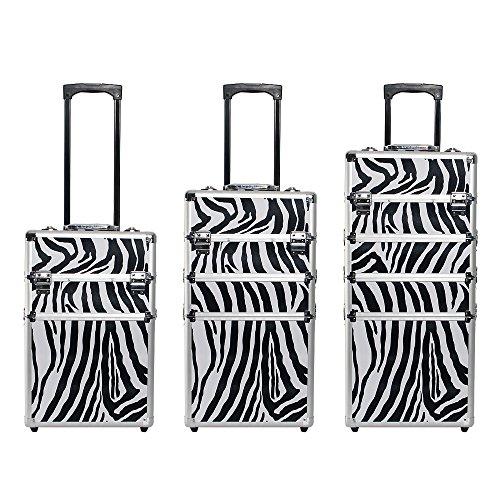 Kosmetikkoffer Trolley in XXL – Zebra - 5