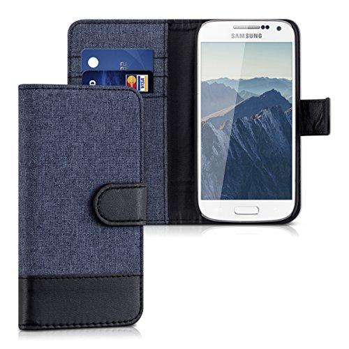 kwmobile Samsung Galaxy S4 Mini Hülle - Kunstleder Wallet Case für Samsung Galaxy S4 Mini mit Kartenfächern und Stand