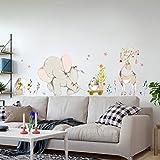 Heureux Éléphant PVC Sticker Mural Enfants Chambre Décor À La Maison Art Contexte Salon Amovible Autocollant Mural