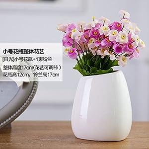 Mesmj Flores Artificiales creativos Ramos de Novia Moderno Minimalista decoración jarrones de cerámica,PinkCalla…
