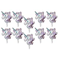 F Fityle 10 Pieces Aluminum Foil Balloons Party Balloons for Wedding Graduation Kids Birthday Party Supplies