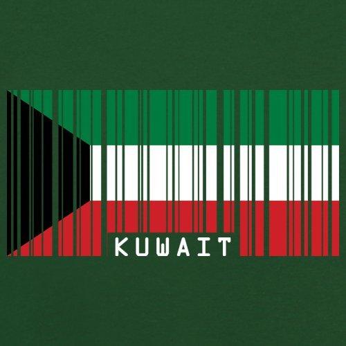 Kuwait Barcode Flagge - Herren T-Shirt - 13 Farben Flaschengrün