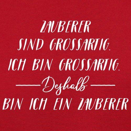 Ich Bin Grossartig - Zauberer - Herren T-Shirt - 13 Farben Rot