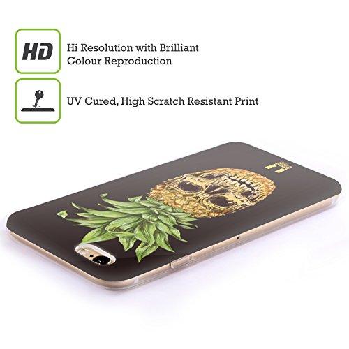 Head Case Designs Ananas Crânes De Fruit Étui Coque en Gel molle pour Apple iPhone 5 / 5s / SE Ananas