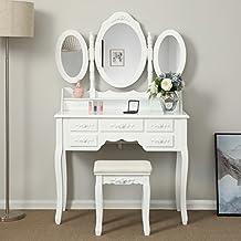 Amazon Fr Meuble Coiffeuse Avec Miroir