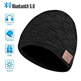 Bluetooth Bonnet Chapeau, Cadeaux pour Hommes et Femmes, Mains Libres pour la Musique HD et Les appels, Mise à Niveau Bluetooth 5.0, Lavable Bluetooth Knit Beanie Gifts (Fashion 2)