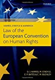 Harris, OBoyle, and Warbrick Law of the European Convention on Human Rights by David Harris (2014-10-01)