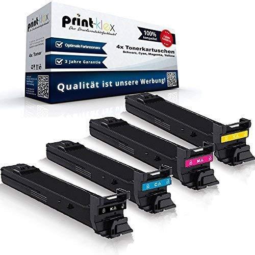 kompatibler XXL Tonerkartuschen Set für Konica Minolta Magicolor 4650 4650DN 4650EN 4690 4690MF 4695 4695MF - Toner Set (alle 4 Farben) -