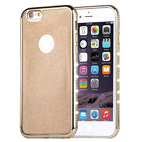 Für iPhone 6 Plus / 6s Plus, Diamond verkrustet Galvanisieren Flash Powder TPU Schutzhülle DEXING ( Color : Gold ) Gold