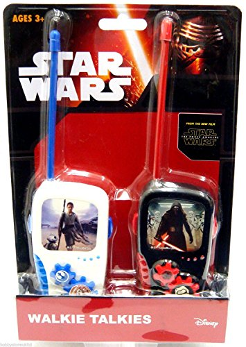 Star Wars Walkie-Talkies The Force Awakens, offizielles Walkie-Talkie-Spielzeug, 2er-Pack