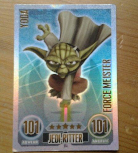 Star Wars Force Attax Einzelkarte 174 Yoda Jedi-Ritter Force Meister deutsch (Jedi-meister Star Wars,)