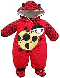 Romper Unisexe Nouveau Née - Vêtements Set Garçons Costumes Coton Filles Romper Hoodie Enfant Automne Hiver Jumpsuit Chaudes 0-12 Mois Yuxin