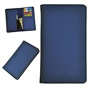DSR Pu Leather case cover for Videocon A16 (blue)