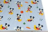 Disney Blau Weiß gestreift Mickey Maus Fußball 100%