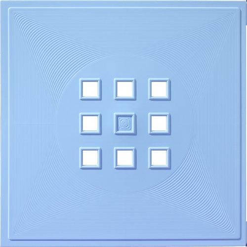 Designer Regaltür als Facheinsatz ca. 33,6cm x 33,6cm * Hell-Blau