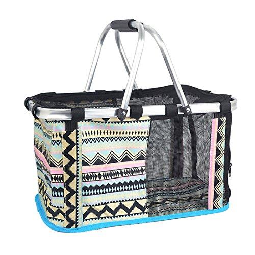 Teckpeak Haustiertragetasche Haustiere Transportbox Haustier Tragekorb Tragetasche Pet Travel tragbare Tasche Reise Trägerkäfig für Transportieren -