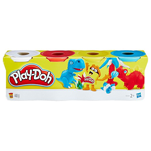 Plastilina PLAY-DOH Bote 112 gr. Dinos, Pack x4 Colores