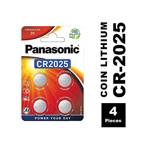 Panasonic CR2025 Lithium Knopfzelle, 3V, 4er Pack