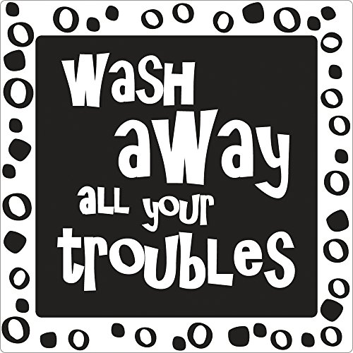 "RAYHER ""Wash Away All Your Troubles"" Soap Stamp, 11.5 x 8 cm"