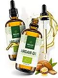 Arganöl-Bio aus Marokko für Haare Gesicht Haut - Haaröl geeignet als Naturkosmetik Gesichtspflege 2x 100ml