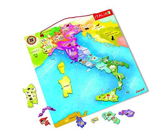 Janod Puzzle Magnetico Italia, J05488