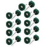 SLB Works 3mm Shank Nylon Fibre Polishing Grinding Mounted Point Wheel Green 18pcs