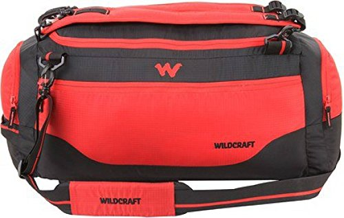Wildcraft Polyester 9.5 inch Red_Rip Travel Duffle (11332)